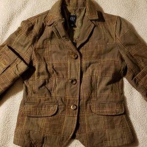 Patchwork/ plaid gap jacket